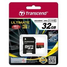Карта памяти Transcend MicroSDHC 32GB cl10 600x UHS-I (Ultimate) TS32GUSDHC10U1