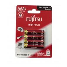 Батареи щелочные Fujitsu LR03(4B)FH серии High Power, типа ААА, 4 шт, (в блистере)