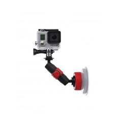 Держатель на присоске JOBY Suction Cup & Locking Arm (черный/красный)