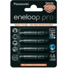 Аккумуляторы Panasonic Eneloop Pro BK-3HCDE/4BE 2500 mAh 4 шт, AA