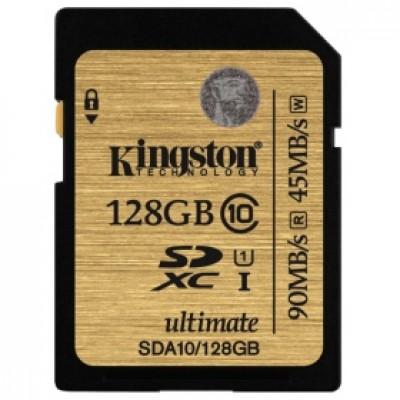 Флеш карта SD 128GB Kingston  SDXC Class 10 UHS-I (SDA10/128GB)