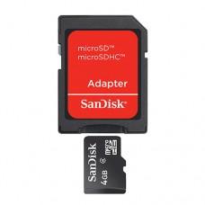 Карта памяти 4GB SanDisk MicroSDHC Class 4 + SD адаптер (SDSDQM-004G-B35A)