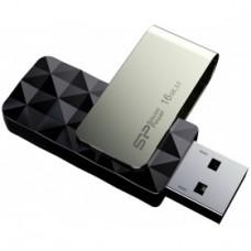 Флеш накопитель 16Gb Silicon Power Blaze B30, USB 3.0, Черный (SP016GBUF3B30V1K)