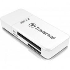 Устройство чтения/записи флеш карт Transcend RDF5, SD/microSD, USB 3.0, белый (TS-RDF5W)