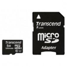 Флеш карта 8GB Transcend microSDHC Class 10 UHS-I Ultimate,600x (TS8GUSDHC10U1)