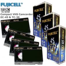 Видеокассета VHS-C Fujicell EC-45 / EC-30 Camcoder Video Tapes