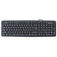 Проводная клавиатура Defender Element HB-520 PS/2 RU,черный,полноразмерная