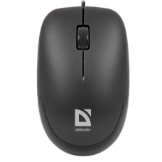 Проводная оптическая мышь Defender Datum MM-010 черный,3 кнопки,1000dpi