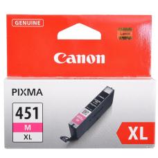 Картридж Canon CLI-451M XL для MG6340, MG5440, IP7240 . Пурпурный. 660 страниц. 6474B001