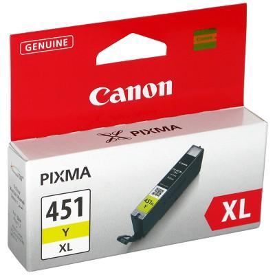 Картридж Canon CLI-451Y XL для MG6340, MG5440, IP7240 . Жёлтый. 685 страниц. 6475B001