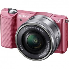 Цифровой фотоаппарат Sony ILCE-5000L 16-50 Kit Pink (A5000)