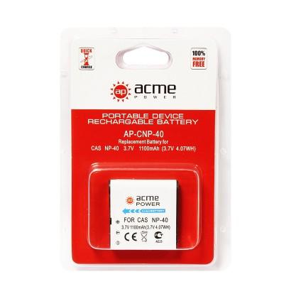 Аккумулятор AcmePower AP-Casio NP-40