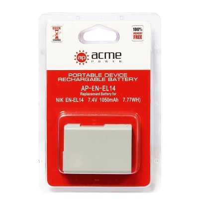 Аккумулятор AcmePower AP-EN-EL14 ДЛЯ D3100, D3200, D3300, D5100, D5200, D5300, P7000, P7100, P7700,