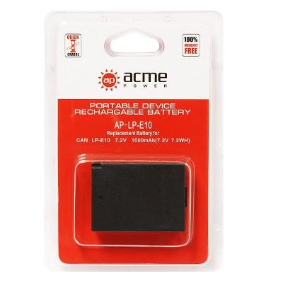 Аккумулятор AcmePower AP-LP-E10 для Canon EOS 1100D, EOS 1200D, EOS Kiss X50, EOS Rebel T3