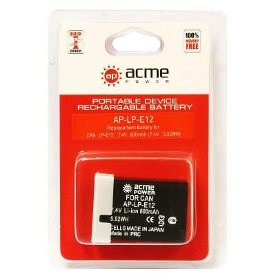 Аккумулятор AcmePower AP-LP-E12 для Canon EOS-M, EOS M2, EOS Rebel SL1, EOS 100D