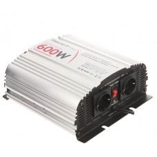 Автомобильный инвертор (преобразователь) напряжения 12В -> 220В) с зарядным устройством, чистая синусоида Relato CPS600