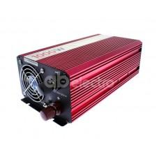 Автомобильный инвертор (преобразователь) напряжения 12В -> 220В, чистая синусоида Relato PS1000/12V