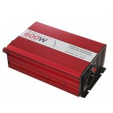 Автомобильный инвертор (преобразователь) напряжения 12В -> 220В, чистая синусоида Relato PS600