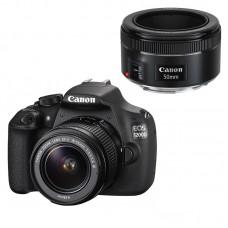 Зеркальный фотоаппарат Canon EOS 1200D Kit 18-55mm DC III + 50mm STM черный
