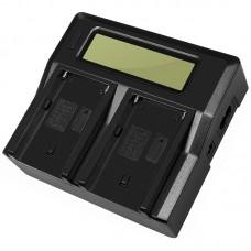 Двойное зарядное устройство Dual Digital BC-Q2 для SONY NP-F970 / NP-F770 / QM50 / QM71 / QM91