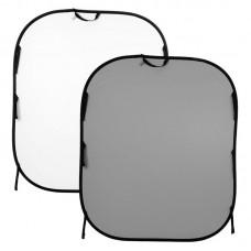 Складной фон Lastolite LB56GW, 150x180 см (Серый / Белый)