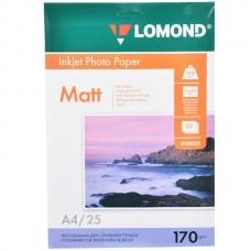 Фотобумага матовая двухсторонняя Lomond 170 г/м2, A4, 25 л