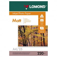 Фотобумага двухсторонняя матовая Lomond 220 г/м2, A4, 25 л