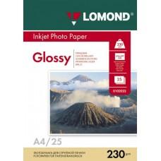 Фотобумага глянцевая одностороняя Lomond 230 г/м2, A4, 25 л (0102049)