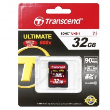 Карта памяти Transcend SDHC 32GB class 10 600x UHS-I (Ultimate) TS32GSDHC10U1