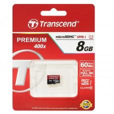 Карта памяти 8GB Transcend MicroSDHC Class 10 UHS-I (TS8GUSDCU1)