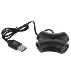 USB-концентратор CBR CH-100 Black, 4 порта, USB 2.0