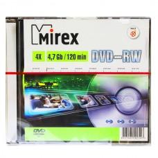 Диск DVD-RW Mirex 4.7 Gb Slim Case 4x