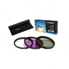 Набор из 3 фильтров Polaroid 55mm: UV, CPL, FLD
