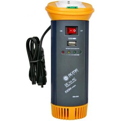 Автомобильный инвертор (преобразователь) напряжения 12В -> 220В, модифицированная синусоида AcmePower DS150