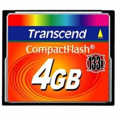 Карта памяти Transcend Compact Flash 4GB 133x TS4GCF133