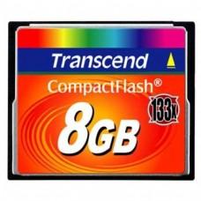 Флеш карта CF 8GB Transcend, 133X (TS8GCF133)
