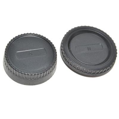 Комплект JJC L-R2 для Nikon: крышка для корпуса фотоаппарата + задняя крышка для объектива