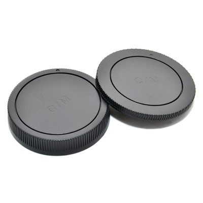 Комплект JJC L-R15 для Canon EOS M: крышка для корпуса фотоаппарата + задняя крышка объектива