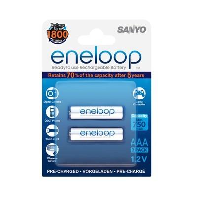 Аккумулятор SANYO Eneloop HR-4UTGB-2BP 750 mAh, 2 шт, блистер, AAA