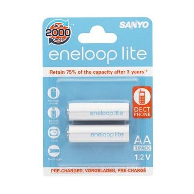 Аккумуляторы SANYO Eneloop lite HR-3UQ-2BP 900 mAh, 2 шт, AA