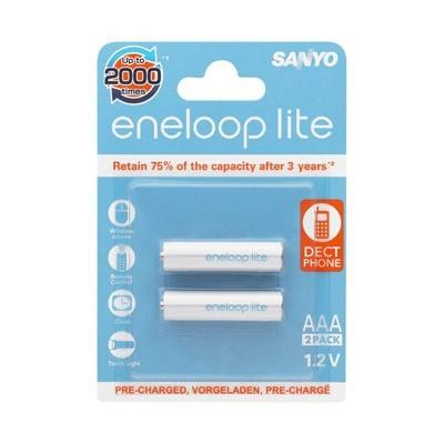 Аккумуляторы SANYO Eneloop lite HR-4UQ-2BP 550 mAh, 2 шт, AAA