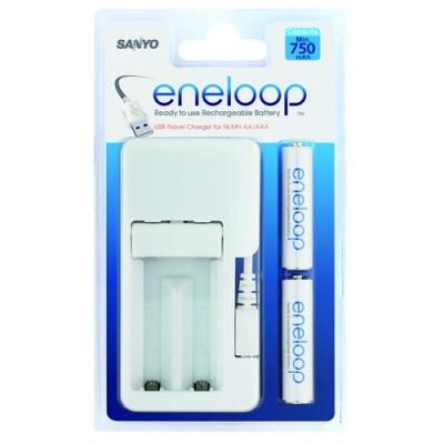 Зарядное устройство SANYO Eneloop MDU01-E-2-4UTGB + 2 аккумулятора AAA 750mAh