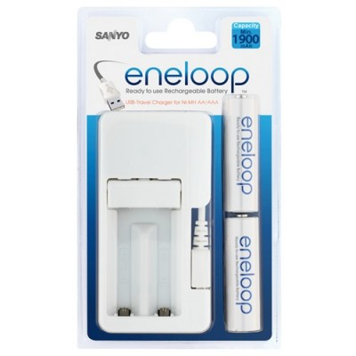Зарядное устройство SANYO Eneloop MDU01-E-2-3UTGB + 2 аккумулятора AA 1900mAh