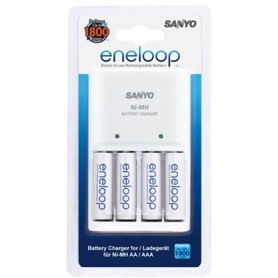 Зарядное устройство SANYO Eneloop MQN04-E-4-3UTGB + 4 аккумулятора AA 1900mAh