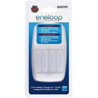 Зарядное устройство SANYO Eneloop MQN09-E-4-4UTGB + 4 аккумулятора AAA 750mAh