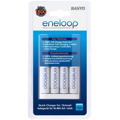 Зарядное устройство SANYO Eneloop MQR06-E-4-3UTGB + 4 аккумулятора AA 1900mAh