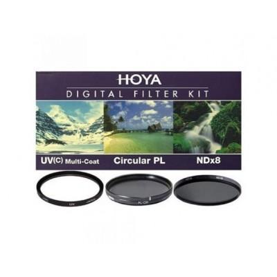 Набор фильтров HOYA Digital Filter Kit: 58mm UV(C) HMC MULTI, PL-CIR, NDX8