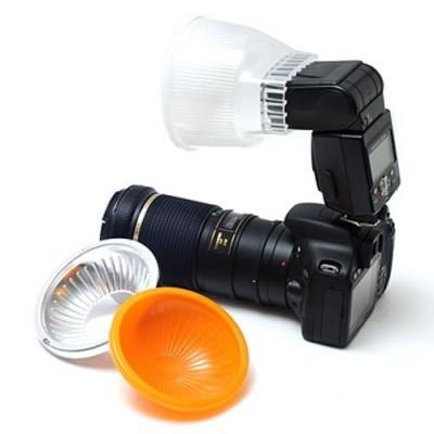 Flama FL-FD4-1 рассеиватель для вспышки Canon 430EZ, Canon 580EX, Metz 54MZ-4, Nikon SB-25 , Vivitar 730-AF-PK.  матовый