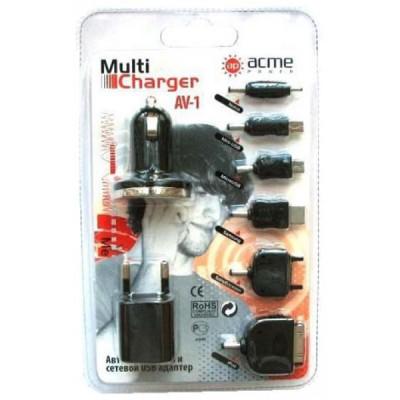 Автомобильный и сетевой USB адаптеры питания AcmePower AP AV-1