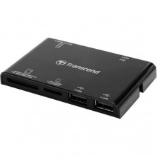 Картридер Transcend RDP7, all-in-1 + 3 USB порта, USB 2.0, Черный (TS-RDP7K)